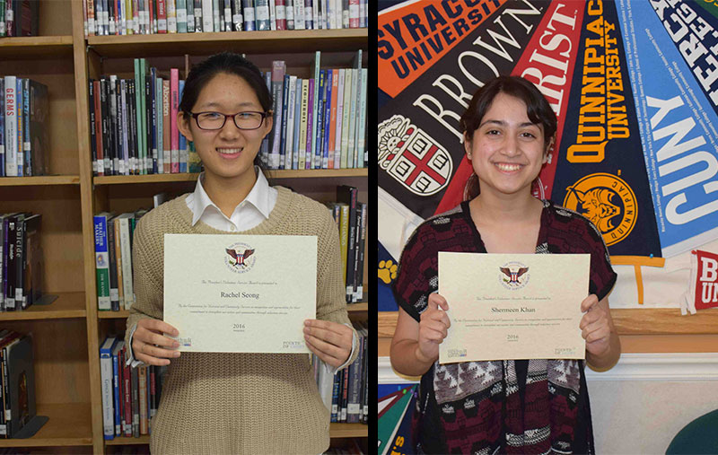 East Meadow Students Receive President's Volunteer Service Award