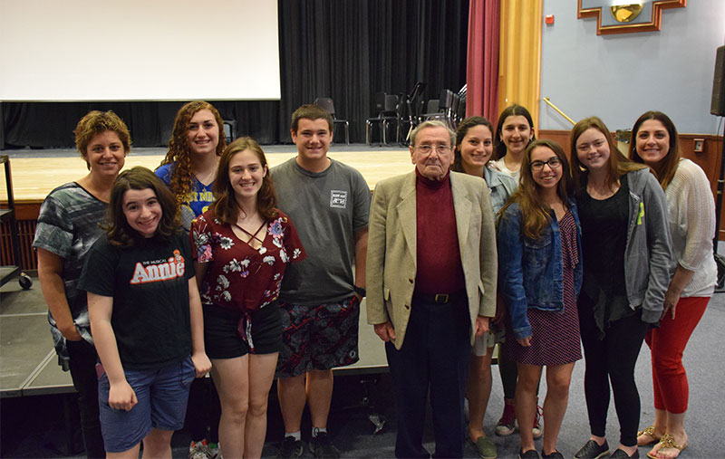 Holocaust Survivor Holds Assembly at East Meadow High School photo