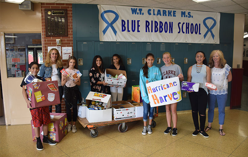 W.T. Clarke Middle School Cares For Victims of Hurricane Harvey photo