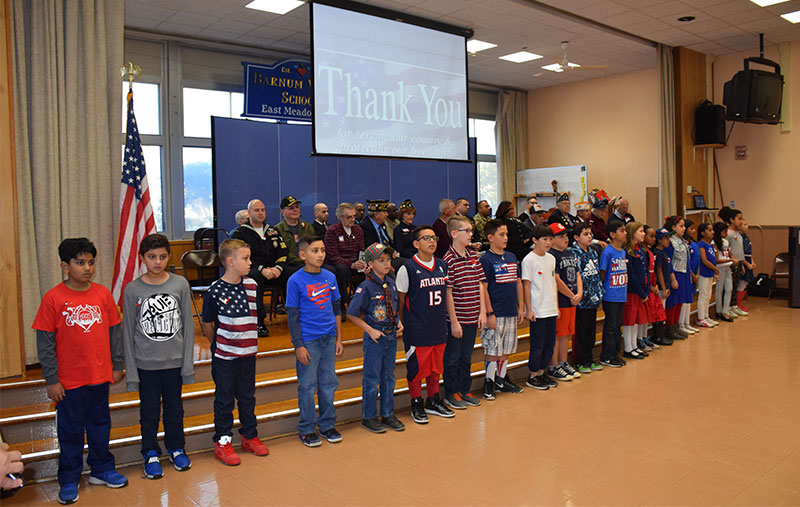 Barnum Woods Fourth-Graders Honor Veterans photo