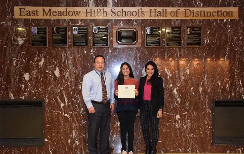 East Meadow HS Student Recognized For Hundreds Of Volunteer Service Hours