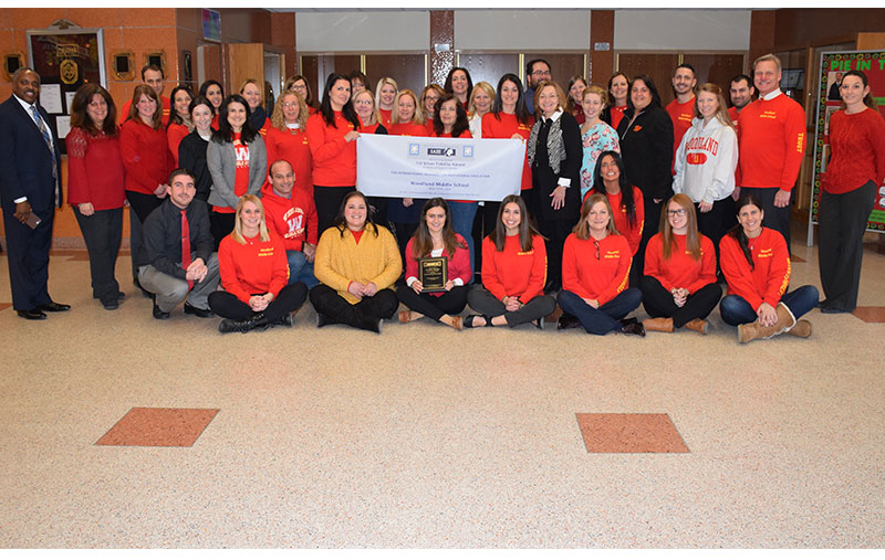 Woodland Middle School Earns IAIE Fidelity Award Pic
