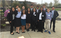 Clarke MS Students Stand Mock Trial Photo