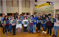 Student Success Spotlighted in Front of Board and Community photo